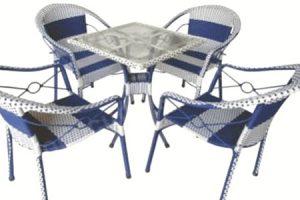 bộ bàn ghế cafe cũ đan mây hải phòng