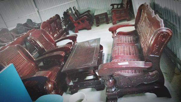 bộ bàn ghế gỗ thịt cũ hải phòng bgg05