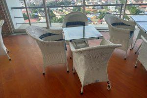 bộ bàn ghế mây trắng cũ 003
