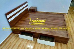 giường ngủ gỗ công nghiệp cũ 01