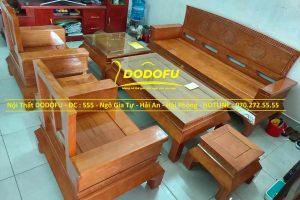 bộ bàn ghế sồi hoàng cung cũ 02