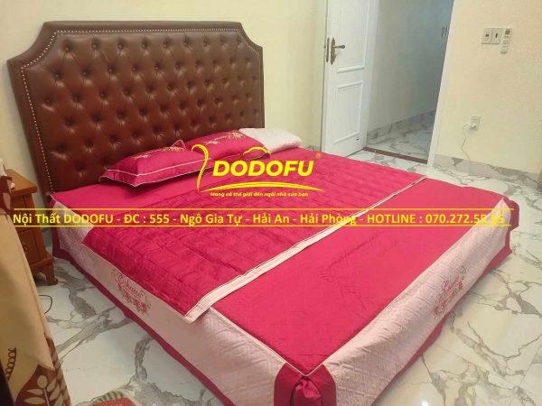giường ngủ bọc da cao cấp cũ 01