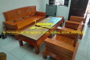 bộ bàn ghế sồi hoàng cung cũ 01