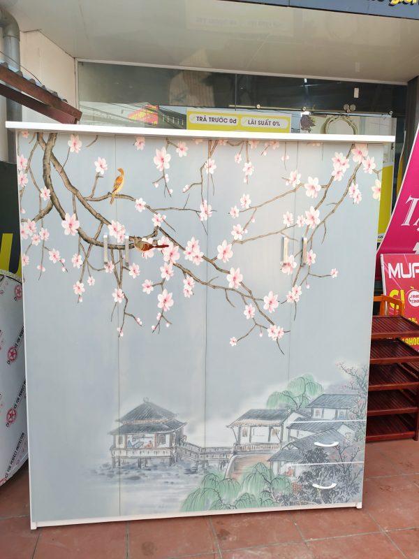 Tủ nhựa hoa 4 cánh 3d cũ 01