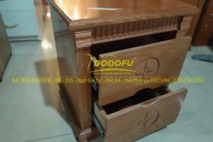táp đầu giường gỗ Sồi cũ 01