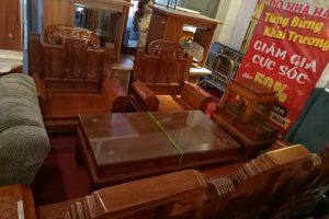 Bộ bàn ghế gỗ Hương - BGGH