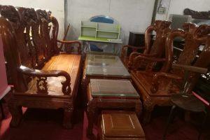 Bộ bàn ghế Đồng Kỵ gỗ Lim Nam Phi - DKNP