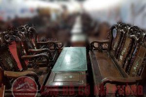 Bàn ghế gỗ gụ cũ