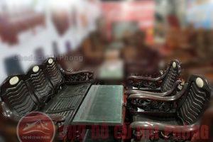 Bộ bàn ghế gỗ đen