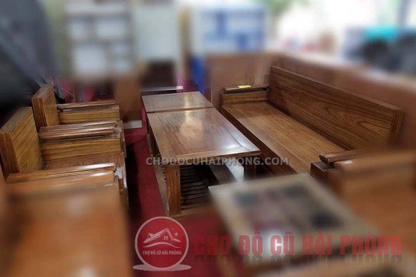 Bộ bàn ghế gỗ hương đối