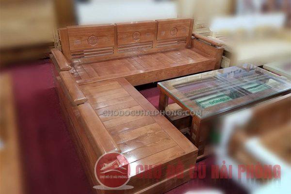 Bộ bàn ghế gỗ chũ L