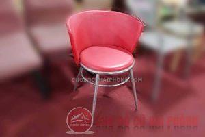 Ghế tựa tròn đỏ