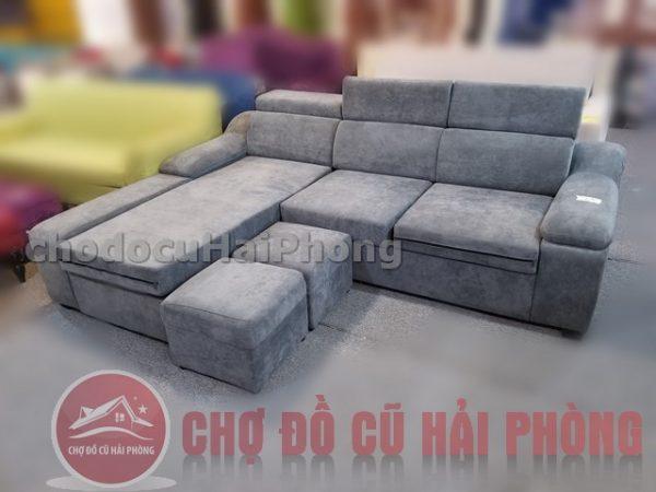 Sofa nỉ xám