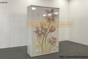 tủ nhựa 3d 3 cánh tranh hoa