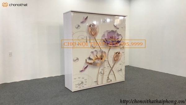 tủ nhựa 3d 4 cánh tranh hoa