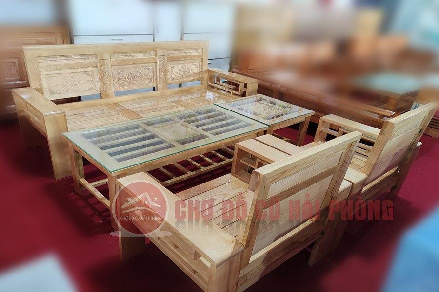 bàn ghế gỗ sồi giá rẻ Hải Phòng