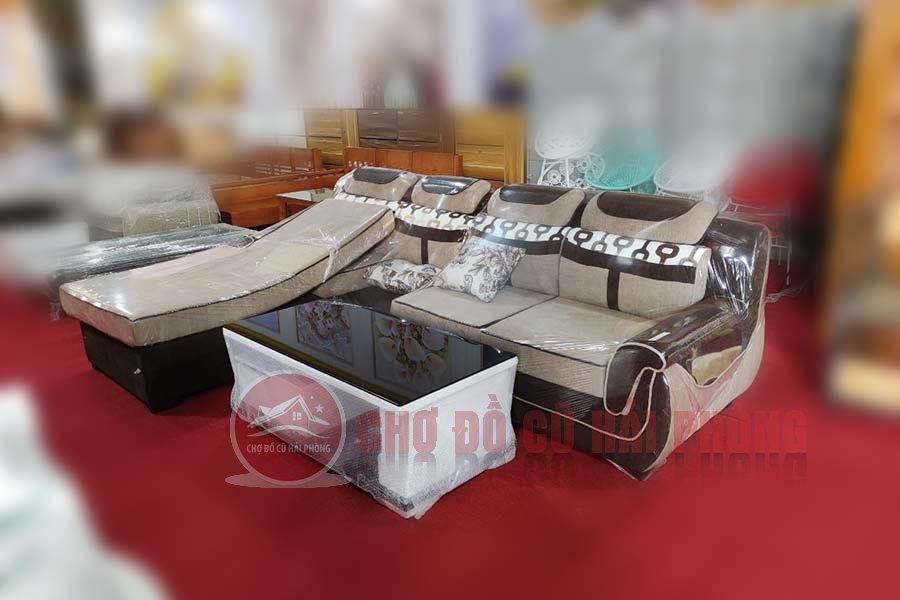 bộ ghế sofa nỉ kết hợp bàn trà giá rẻ