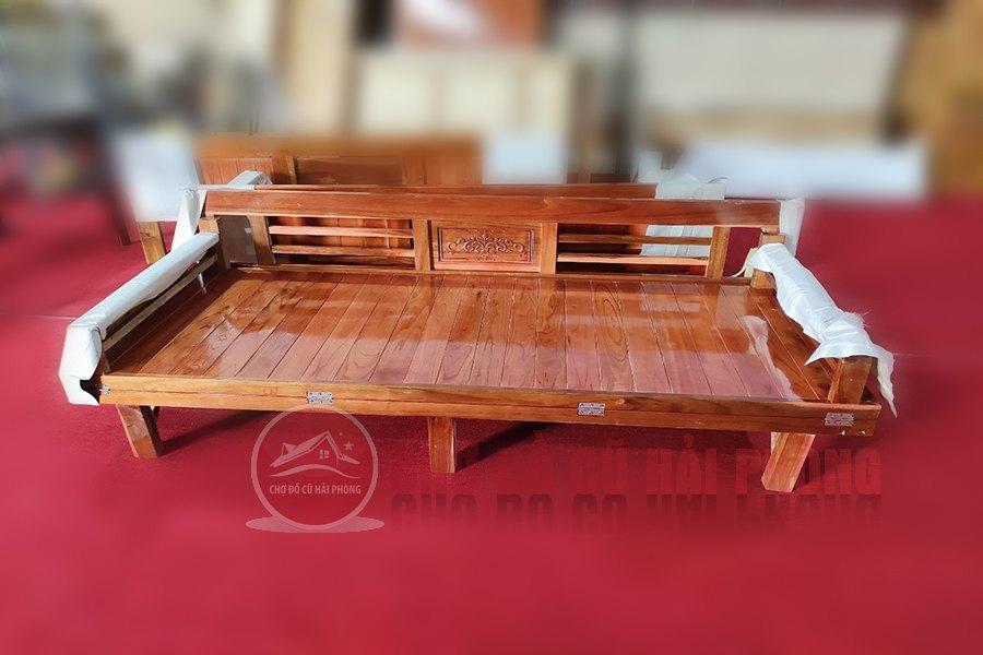 ghế liền giường gỗ sồi giá rẻ hải phòng