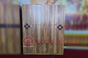 tủ quần áo gỗ công nghiệp 4 cánh màu óc chó
