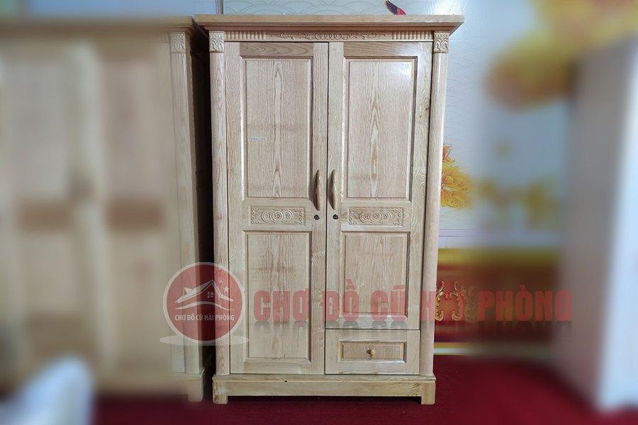 Tủ quần áo gỗ sồi 2 cánh giá rẻ hải phòng