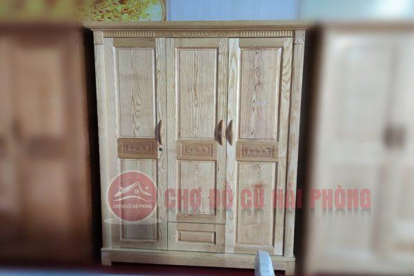 tủ quần áo gỗ sồi 3 cánh giá rẻ hải phòng
