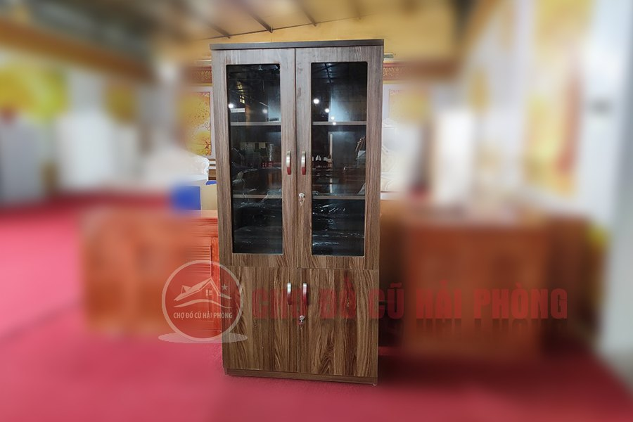 tủ tài liệu văn phòng gỗ công nghiệp 2 cánh