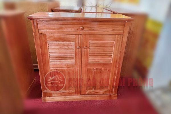Tủ giày gỗ hương 2 cánh