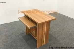 bàn vi tính gỗ okal màu vàng