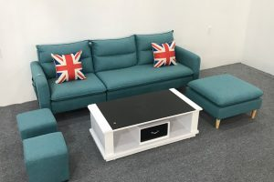 Ghế sofa góc nỉ gối nhồi