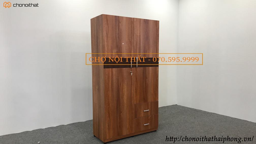 Tủ quần áo gỗ okal vân xoan đào